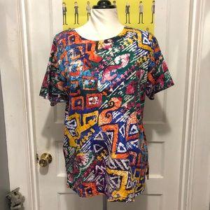 Vintage Colorful 80s/90s Women's Shirt